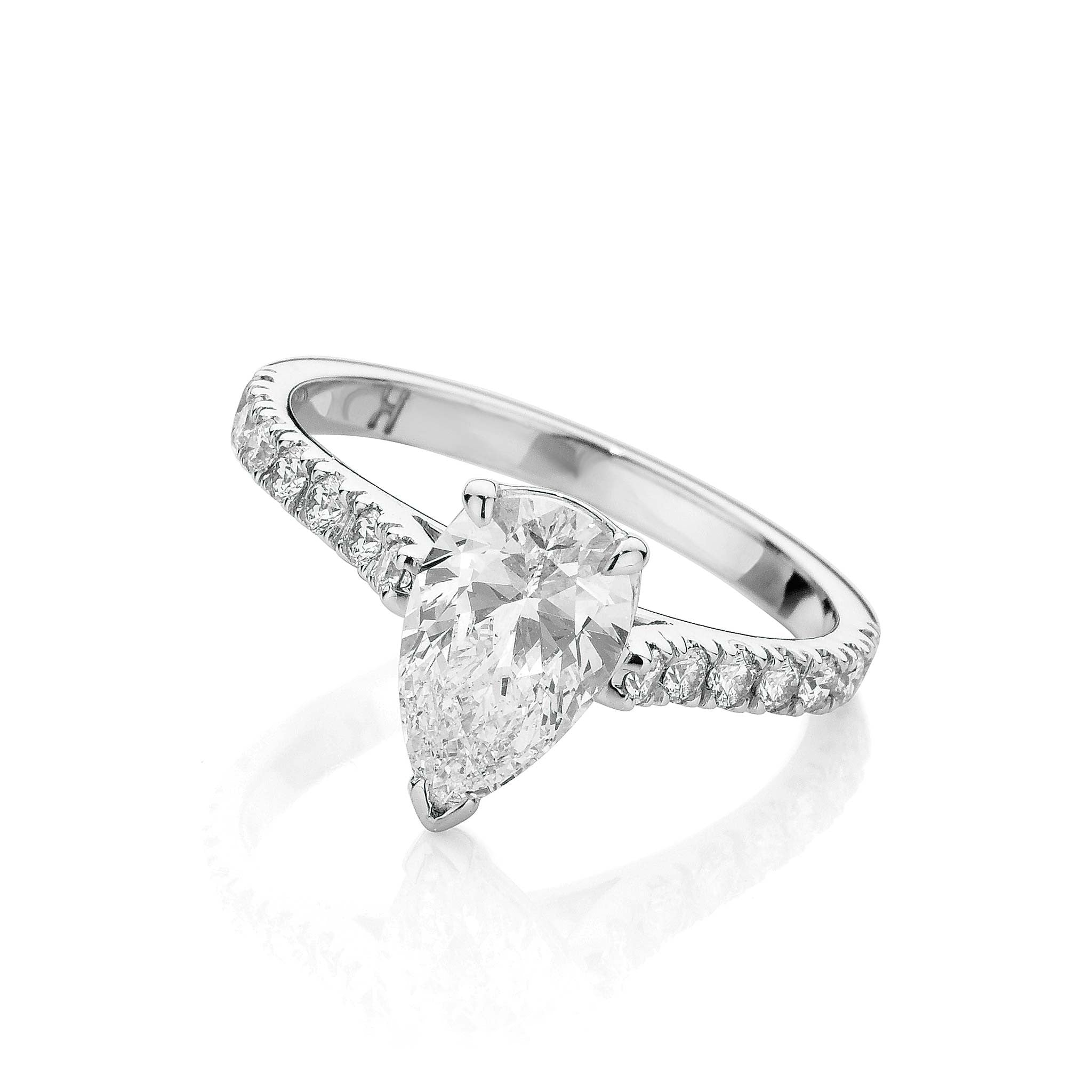 Classic Pear Cut Diamond Ring