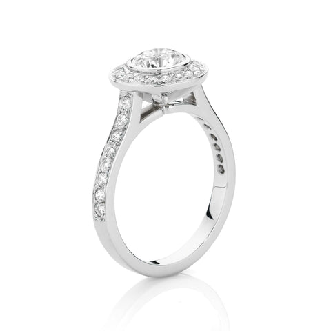 Round Brilliant Bezel Cluster Ring