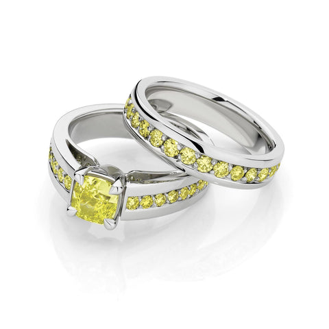 Upswept Yellow Diamond Set