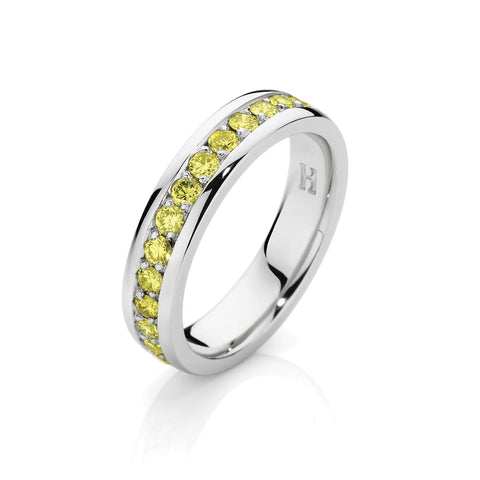 Yellow Diamond Wedding Band
