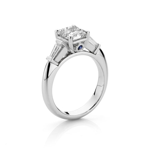 Radiant Diamond & Tapered Baguette Ring