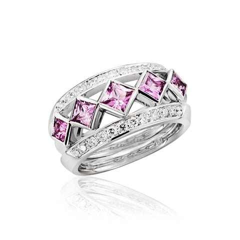Iconic Pink Sapphire Dress Ring