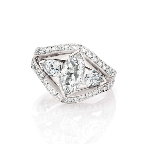 Marquise Diamond Dress Ring