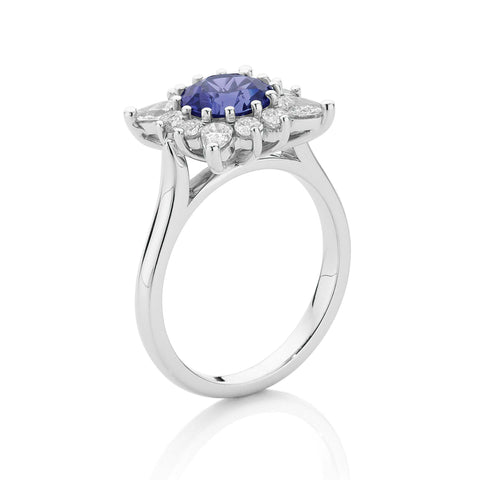 Tanzanite & Diamond Fire Dress Ring