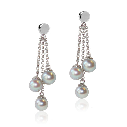 Multi Strand Akoya Pearl Earrings