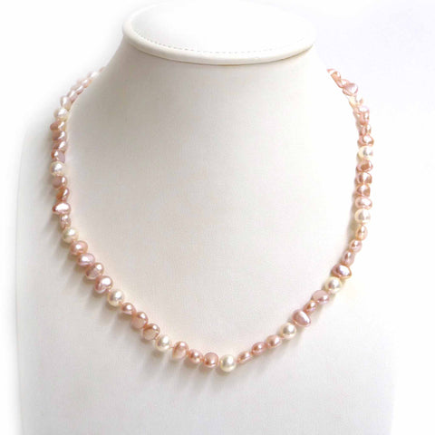 Pink & White Freshwater Pearl Necklace