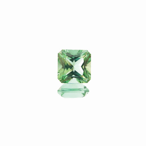 Square Radiant Cut Mint Green Tourmaline