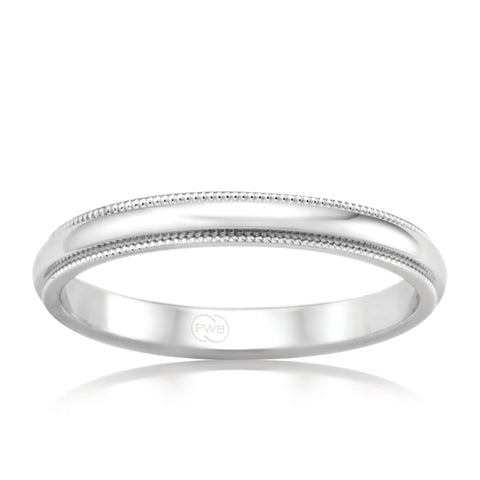 18ct White Gold Relief Pattern Ring