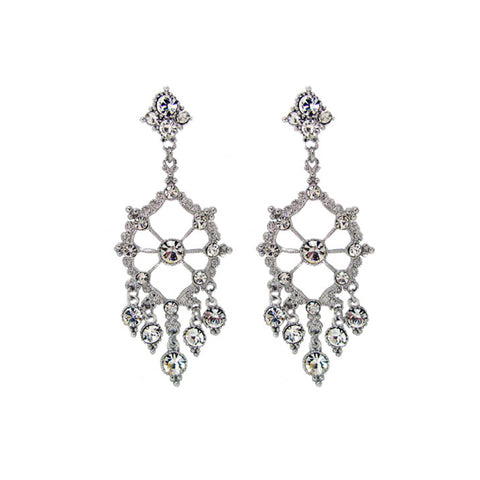 Diamante Chandelier Earrings