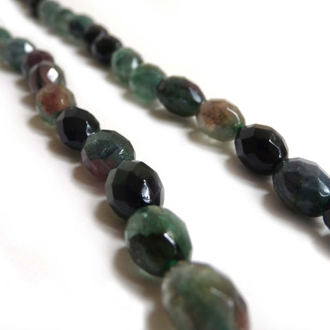 Green Tourmaline Faceted Beaded Necklace