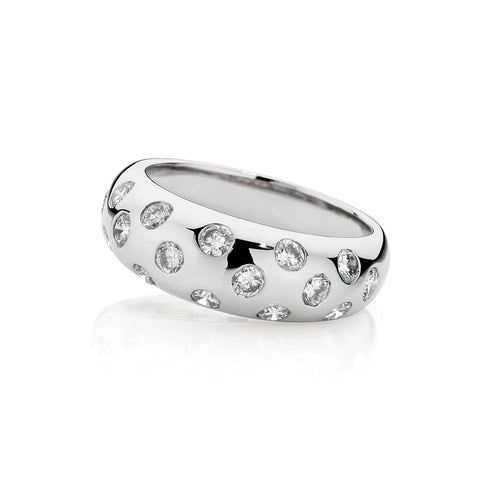 Domed Diamond Ring