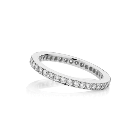Full Circle Thread and Grainset Diamond Wedding Band