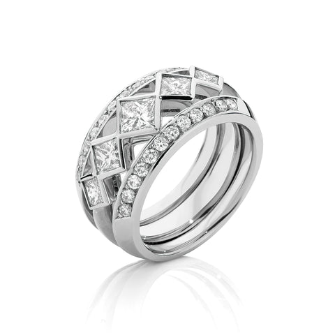 Iconic Princess Cut Diamond Dress Ring
