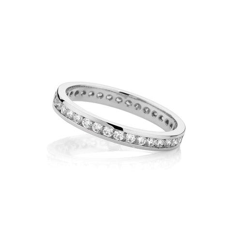 Full Circle Channel Set Wedding Band