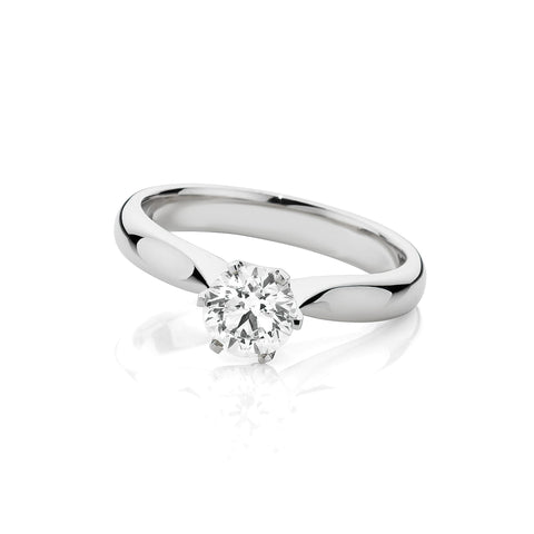 Fine Six Claw Solitaire Diamond Ring