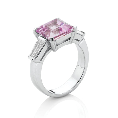 Kunzite & Diamond Dress Ring