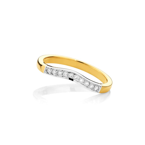 Curve Gold & Platinum Wedding Band