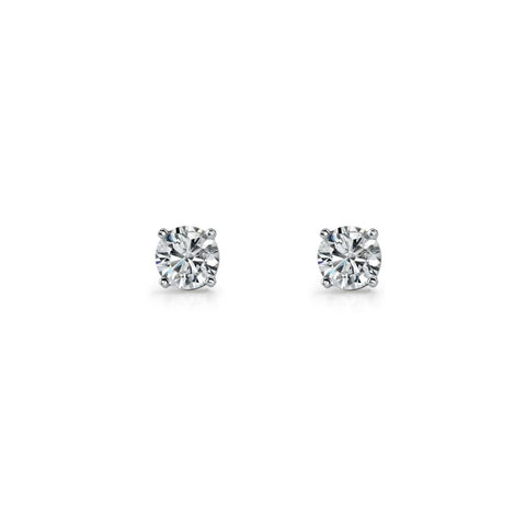 Sterling Silver Claw Set Cubic Zirconia Earrings