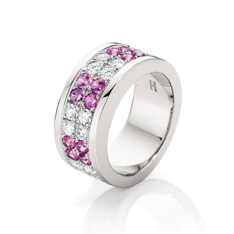 Diamond & Pink Sapphire Dress Ring