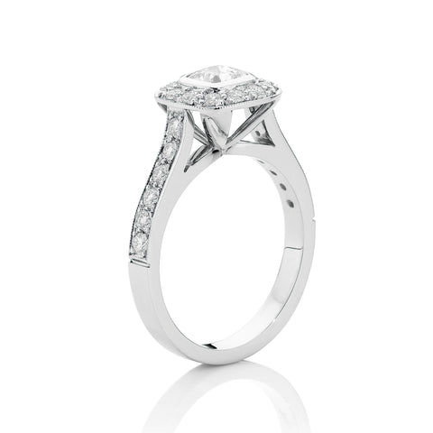Cushion Cut Bezel Cluster Ring