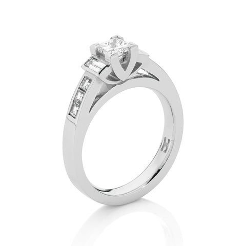Princess Baguette Diamond Ring