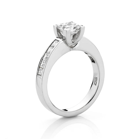 Princess Cut Diamond Channel Set Ring