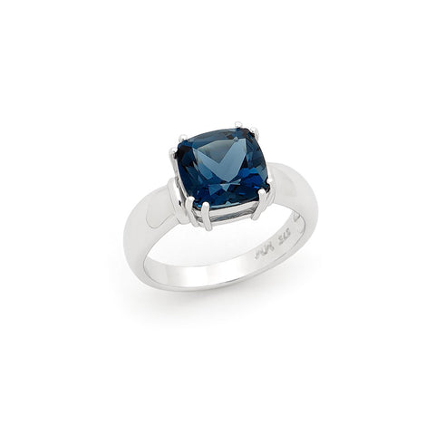 London Blue Topaz Claw Set Coloured Stone Dress Ring