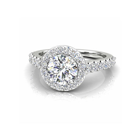 Halo Round Brilliant Cut Diamond Ring