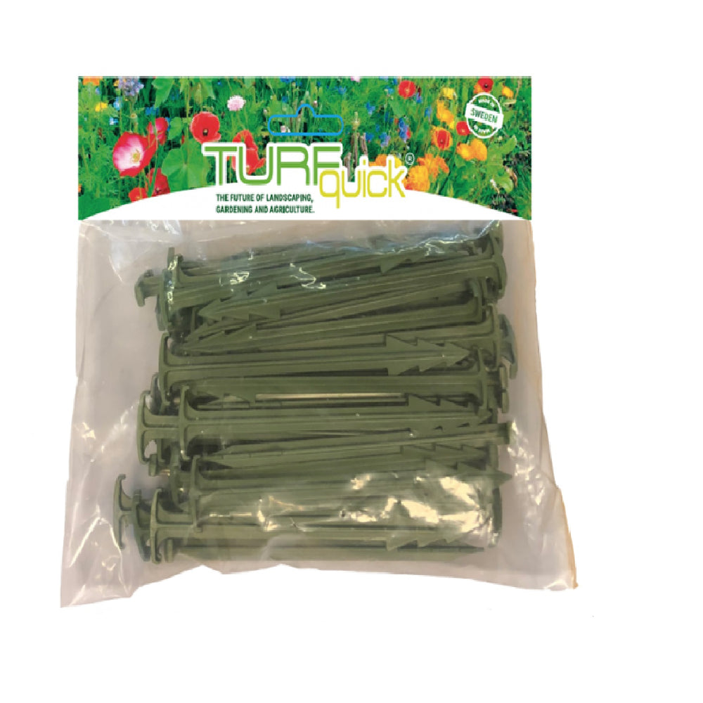 Biodegradable Landscape Stakes - Turfgrass Planting Textile