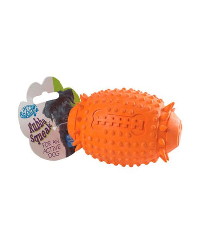 Rubba Squeak Rugby Ball – 11cm
