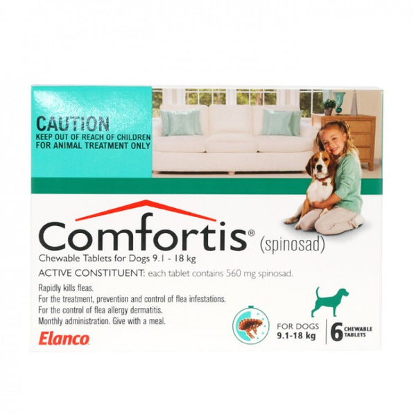 Comfortis Dog - Comfortis Medium Dog (Green) 9.1-18Kg