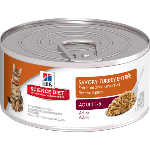 Science Diet Cat - Turkey Cans, Adult