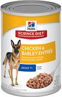 Science Diet Dog - Chicken & Barley Entree Mature Adult, 7 + years
