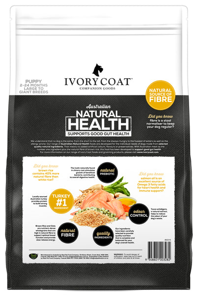 Ivory Coat - Puppy Large Breeed Turkey & Brown Rice
