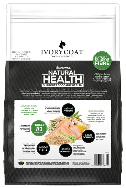 Ivory Coat - Adult Large Breed Turkey & Brown Rice