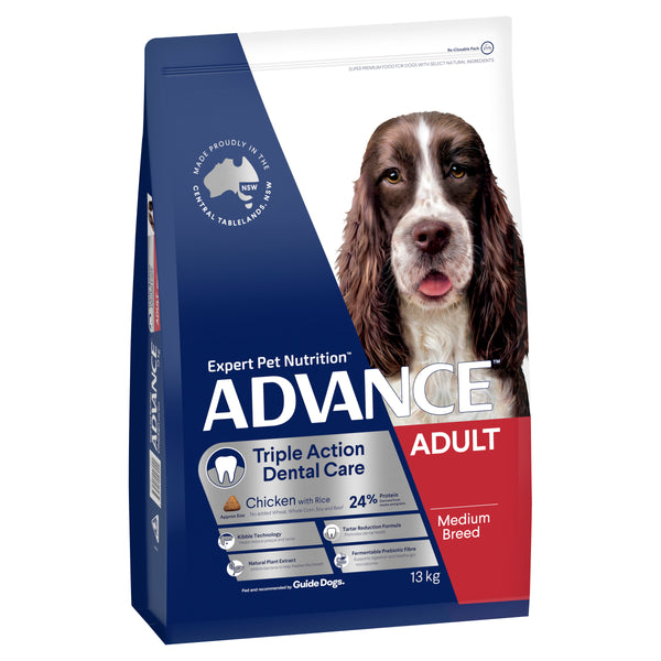 ADVANCE™ Dental Care Triple Action Medium Breed Chicken with Rice
