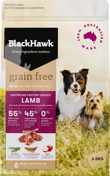 BlackHawk Dog -  Grain Free Adult Lamb