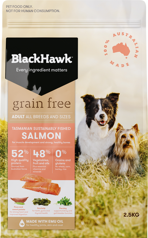 BlackHawk Dog -  Grain Free Adult Salmon