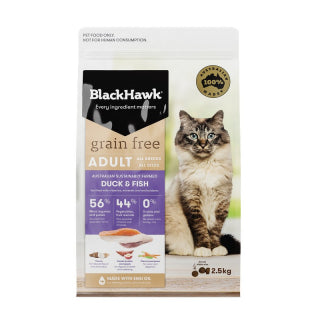 BlackHawk Cat - Adult Grain Free Duck & Fish