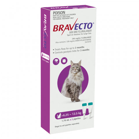 Bravecto Cat - BRAVECTO CAT SPOT ON 6.25-12.5KG 2PK