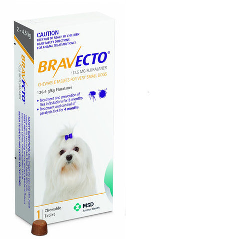 Bravecto Dog - Bravecto Very Small Dogs 2.4-5kg