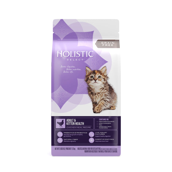 Holistic Select  Cat - GRAIN FREE Adult & Kitten Health Chicken Meal Recipe