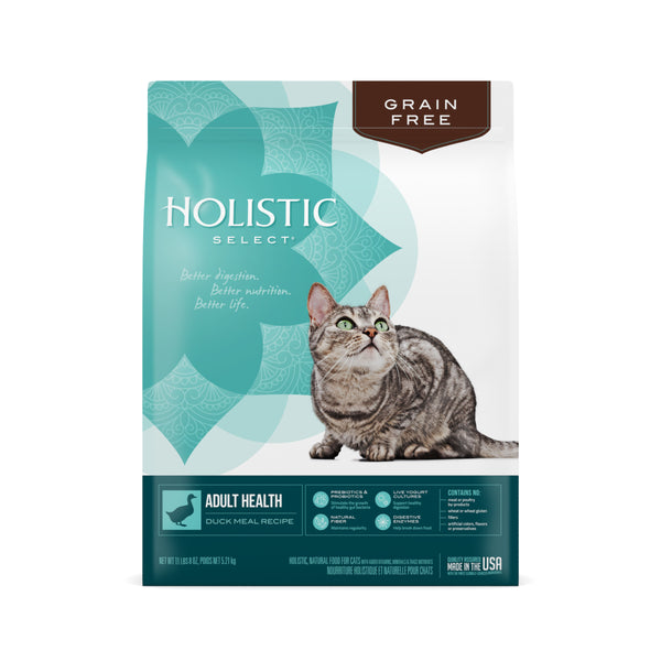 Holistic select Cat - GRAIN FREE Adult Health Duck Meal Recipe