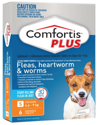 Comfortis Plus - Small Dogs 4.6-9kg (Orange)previously Panoramis