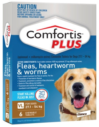 Comfortis Plus - Extra Large Dogs  27.1-54kg (Brown) previously Panoramis
