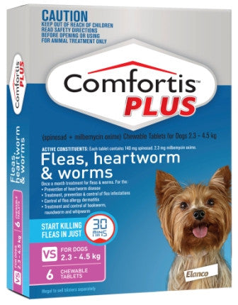 Comfortis Plus - Extra Small Dogs 2.3-4.5kg (Pink) previously Panoramis