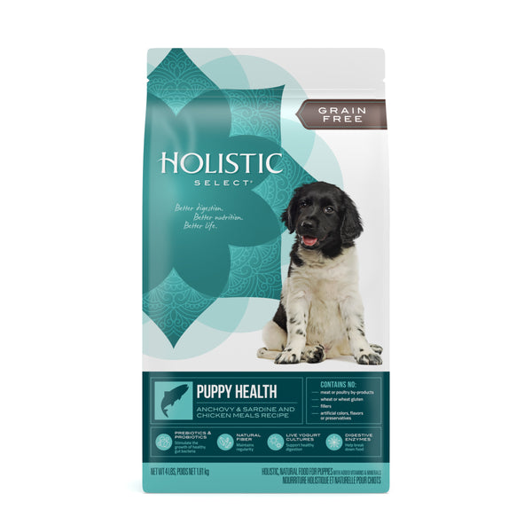Holistic Select Dog - GRAIN FREE Puppy Health, Anchovy,Sardine & Chicken