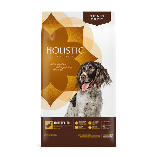 Holistic Select Dog - GRAIN FREE Adult Health Duck Meal Recipe