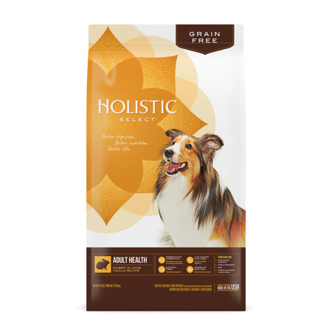 Holistic Select Dog - GRAIN FREE Adult Health Rabbit & Lamb Meals Recipe