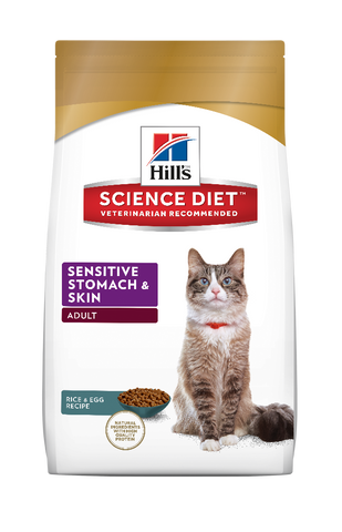Science Diet Cat -  Sensitive Stomach & Skin, Adult